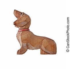 vintage wooden dachshund figurine - vintage dog dachshund...