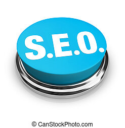 SEO - Blue Button - A blue button with the acronym SEO on it