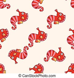 Hippocampus theme elements vector,eps