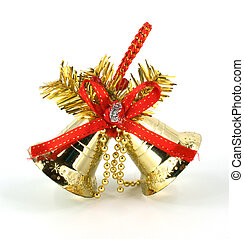 Christmas-tree decorations - Christmas bell with red ribbon...