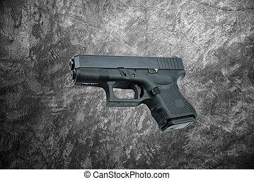 automatic 9mm. handgun pistol on ce