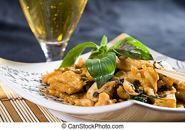 chinese chicken stirfry - aromatic chicken stirfry and wine