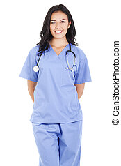 Female healthcare worker - Stock image of a female...