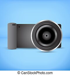 Digital photocamera - Black plastic Digital Mirrorless...