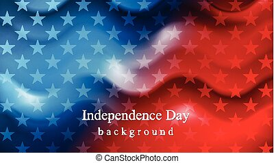 Bright wavy Independence Day background