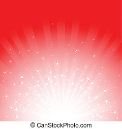 Christmas stars and stripes - Red Christmas background with...