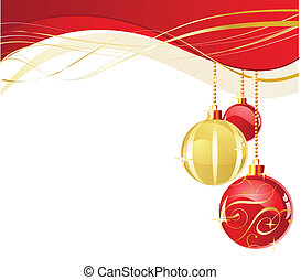 White Christmas background - Vector decorations for your...