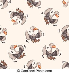 bird condor cartoon theme elements vector,eps
