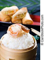 prawn on chinese rice