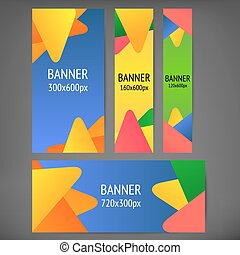 Horizontal and vertical web banners