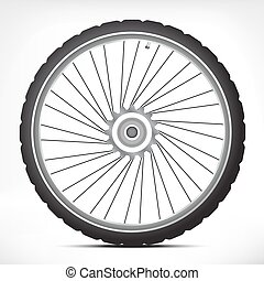 Bicycle wheel - Black metallic bicycle wheel with light...