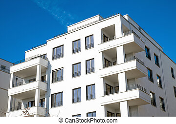 Modern apartment building in Berlin - Recently constructed...