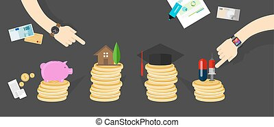 financial money budget allocation personal family finance