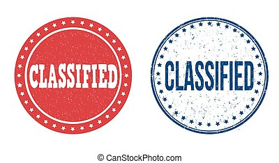 Classified stamps - Classified grunge rubber stamps on...