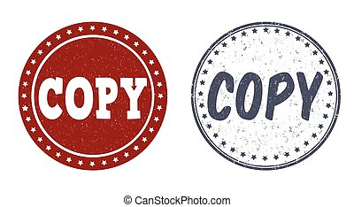 Copy stamps - Copy grunge rubber stamps on white, vector...