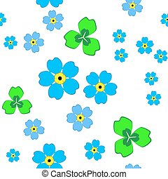 forget-me-not - pattern with blue forget-me-not flowers and...