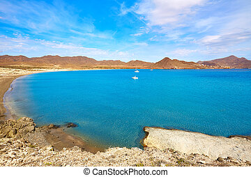 Almeria Playa los Genoveses beach Cabo de Gata - Almeria...
