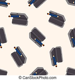 Pencil case theme elements