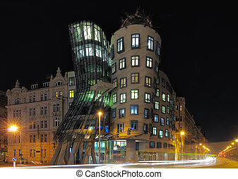 """Dancing house in Prague - \""""Fred and Ginger\"""" modern house..."""