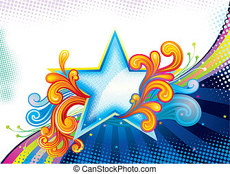 Superior Star - Elegance Star Shape, vector illustration...