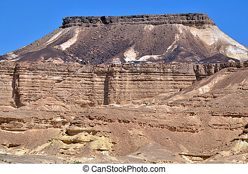 Makhtesh Ramon - Ramon Crater - Israel - Rock formations in...
