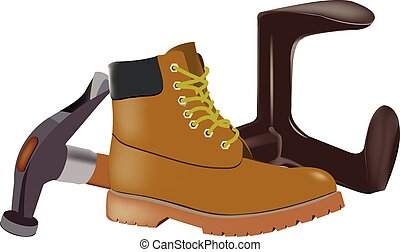 repair shoes - accessories Tripod and shoemaker hammer pre...