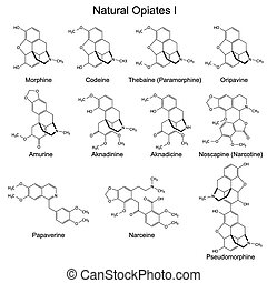 Natural opiates - Structural formulas of main natural...
