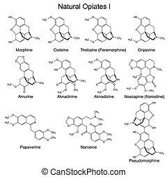 Natural opiates - Structural formulas of main natural...