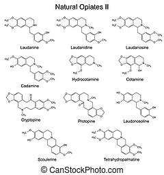 Natural opiates - Chemical formulas of main natural opiates...