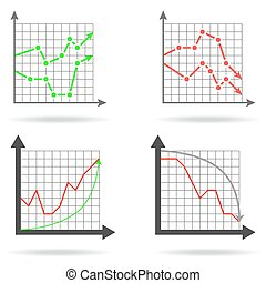 Icons of financial charts
