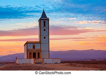 Almeria Cabo de Gata Salinas church in Spain - Almeria Cabo...