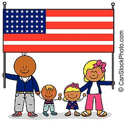 Happy family USA