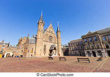 the hague - Dutch parliament complex The Binenhof. The Hague