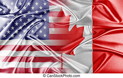 USA and Canada. Relations between two countries. Conceptual...