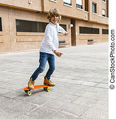 Skateboarder kid