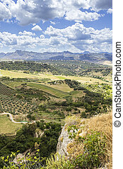 Ronda landscape view. A city in the Spanish autonomous...