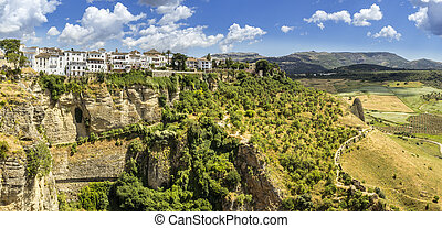Ronda landscape panoramic view A city in the Spanish...