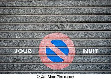 no parking sign, France