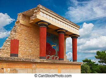 Knossos,  crete, Palácio, Grécia