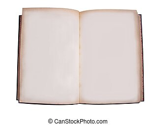 Open book - An old book opened showing blank pages