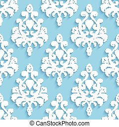 Seamless wallpapers in the style of Baroque. Can be used for backgrounds and page fill web design. Vector illustration