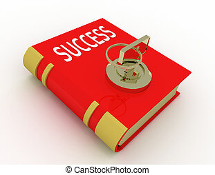 success book with lock key