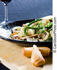 seafood stirfry - a delicious seafood stir-fry with a spring...