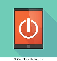 Tablet pc icon with an off button