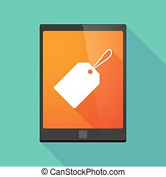 Tablet pc icon with a label - Illustration of a tablet pc...