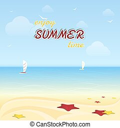 Summer vacation at the seaside