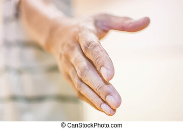 giving hand for help