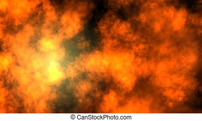 Hot Smoke Animation - A video animation resembling clouds of...