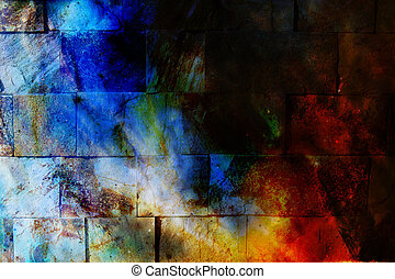 Rock Wall Texture. Ocher background. Coloor efect