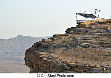 Makhtesh Ramon - Ramon Crater - Israel - Lookout of a wild...